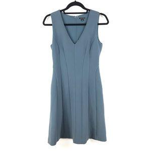 Ann Taylor Sz 4 Blue Princess Seamed Sheath Dress